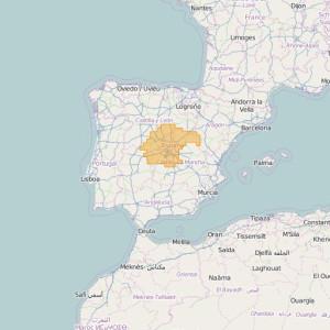 España Topo Zonas Central