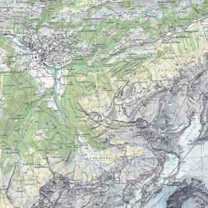 Svizzera Topo Piastrelle (1:25.000)