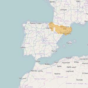 Spain Topo Zones Transpyr