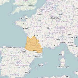 Francia Orto Zonas Pyrenees-South West