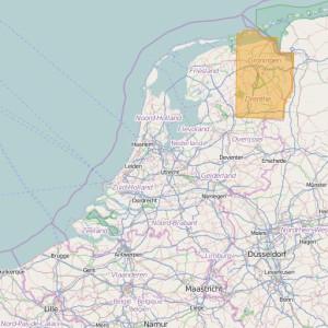 Países Bajos Topo Zonas (1:25.000) Groningen + Drenthe