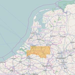 Países Bajos Topo Zonas (1:25.000) North Brabant