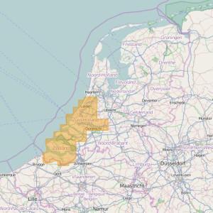 Países Bajos Topo Zonas (1:25.000) South Holland + Zeeland