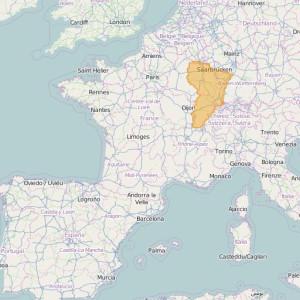 Francia IGN Top25 Zonas Est