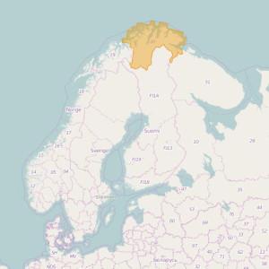 Noruega Topo Zonas Finnmark