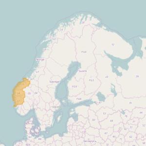 Noruega Topo Zonas Hordaland + Sogn og Fjordane + Møre og Romsdal
