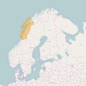 Noruega Topo Zonas Nordland