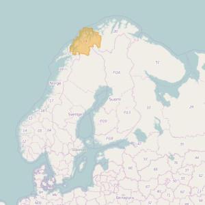 Noruega Topo Zonas Troms
