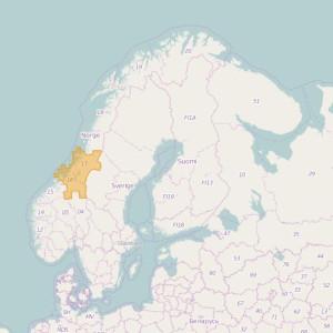 Noruega Topo Zonas Trøndelag