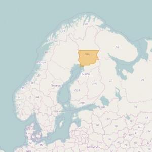 Finlandia Topo Zonas (1:50.000) South Lapland