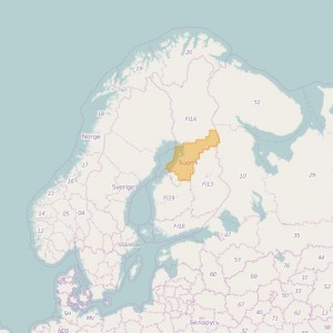 Finlandia Topo Zonas (1:50.000) North Ostrobothnia