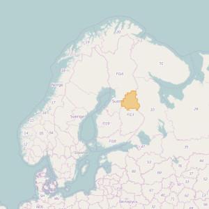 Finlandia Topo Zonas (1:50.000) Kainuu