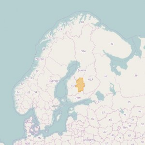 Finlandia Topo Zonas (1:50.000) Central Finland