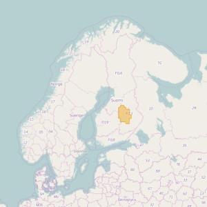Finlandia Topo Zonas (1:50.000) North Savonia