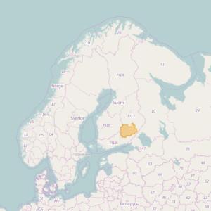 Finlandia Topo Zonas (1:50.000) South Savonia