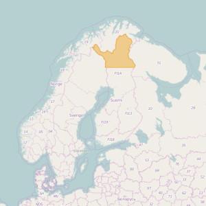 Finlandia Topo Zonas (1:20.000) North Lapland