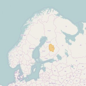 Finlandia Topo Zonas (1:20.000) North Savonia