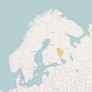Finlandia Topo Zonas (1:20.000) North Karelia