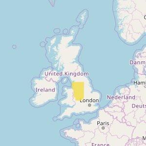 Gran Bretaña Topo Zonas (1:50.000) Midlands + North-West