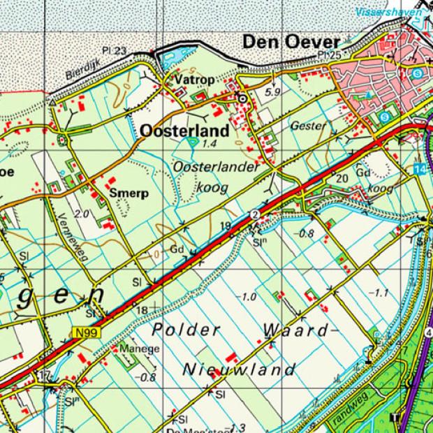 Netherland Topo Den Oever