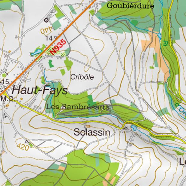 Belgium Topo Map