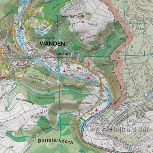 Luxemburg Topo 25k Land