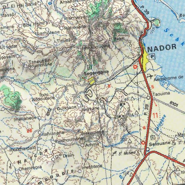 Morocco Topo 100k Land