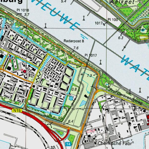 Netherland Topo 25k Rozenburg 1