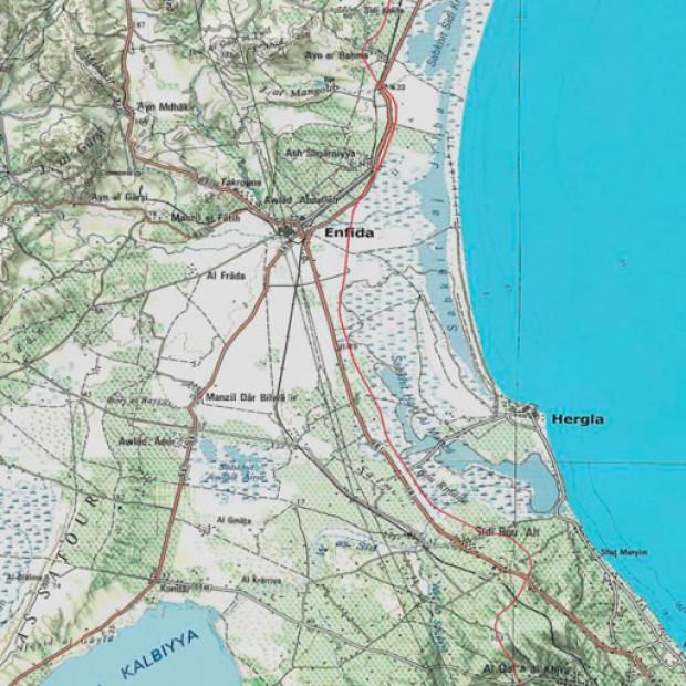 Tunissia Topo 250k