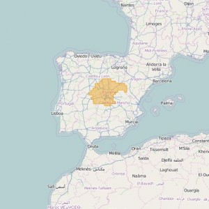 Espagne Topo Zones Central