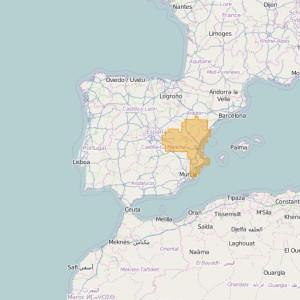 Espagne Topo Zones Este