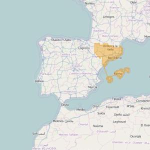 Espagne Topo Zones Nor-Este