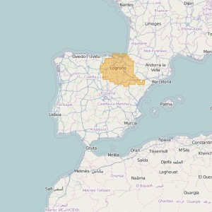 Espagne Topo Zones Norte