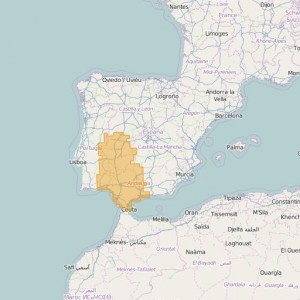 Espagne Topo Zones Sur-Oeste