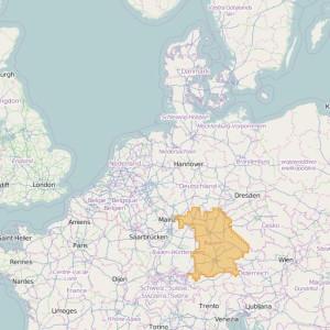 Allemagne Topo Zones Bavaria