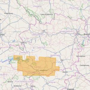 Autriche Topo Zones Kärnten