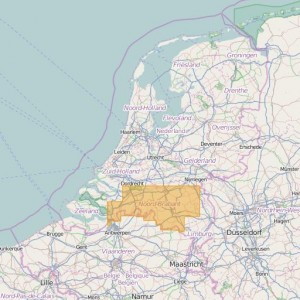 Pays-Bas Topo Zones (1:25.000) North Brabant