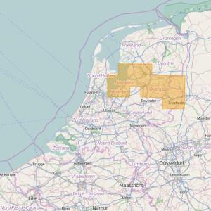 Pays-Bas Topo Zones (1:50.000) Flevoland + Overijssel