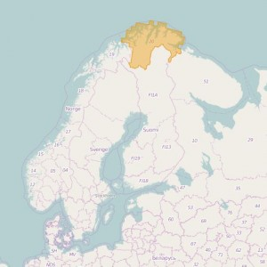 Norvège Topo Zones Finnmark
