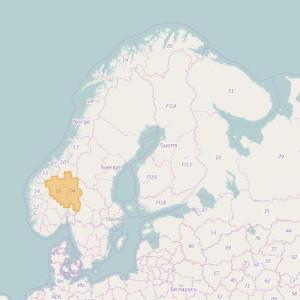 Norvège Topo Zones Hedmark + Oppland