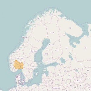 Norvège Topo Zones Oslo + Buskerud + Vestfold + Telemark + Akershus + Østfold