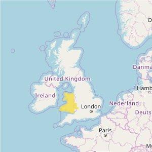 Grande-Bretagne Topo Zones (1:25.000) Wales