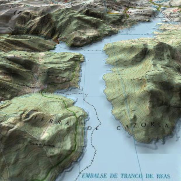 Spain Topo Mosaic Cazorla 3dview
