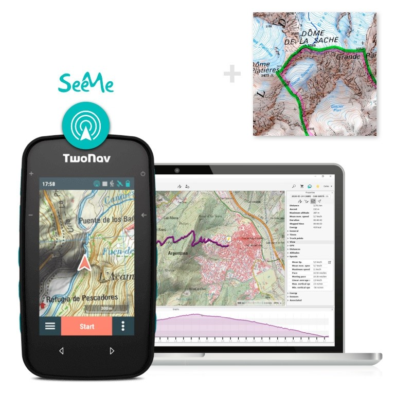 Pack: GPS Cross + Land + France IGN Top25 Entière + SeeMe