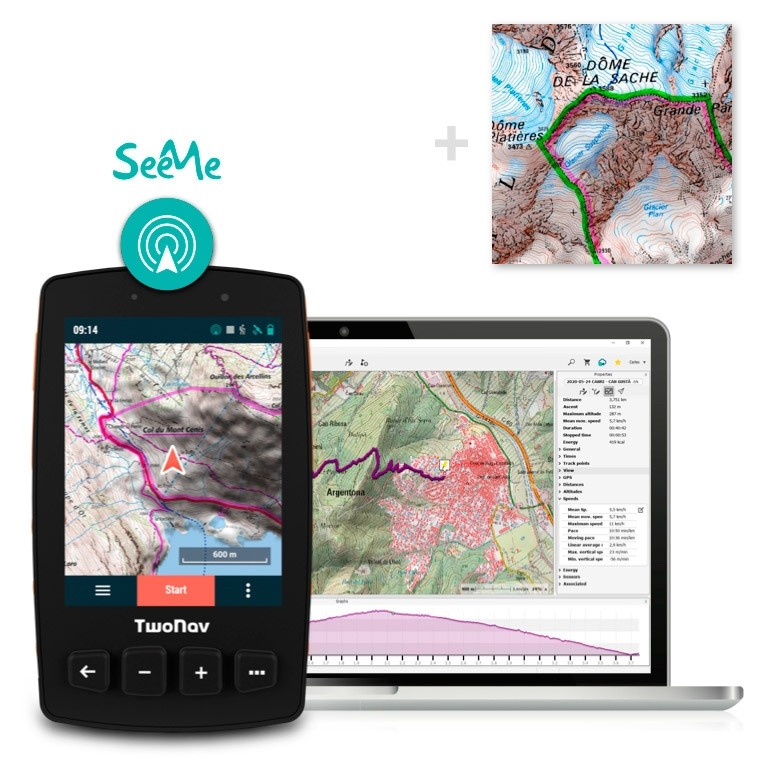 Pack: GPS Trail 2 + Land + France IGN Top25 Entière + SeeMe
