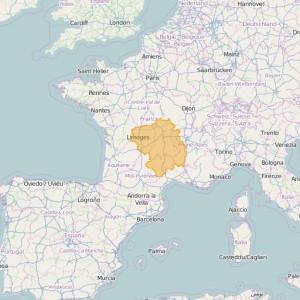 Frankreich Ortho Zonen Massif Central