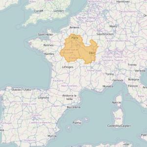 Frankreich Ortho Zonen Paris-Centre
