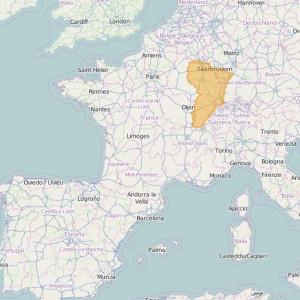 Frankreich Ortho Zonen Est