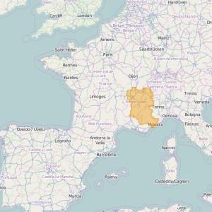 Frankreich IGN Top25 Zonen Alpes