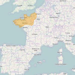 Frankreich IGN Top25 Zonen Normandie-Bretagne